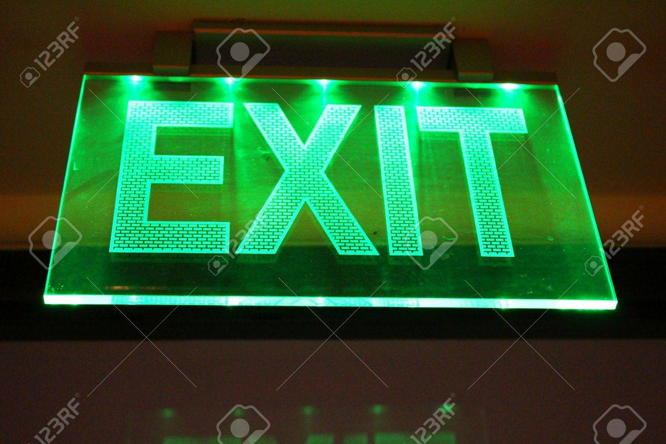 Lighting exit sign - 23134725