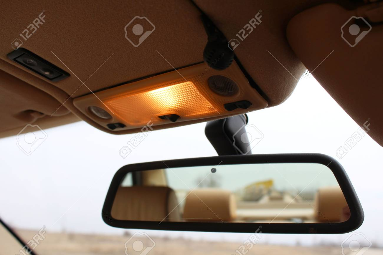 Car rearview mirror with lights - 36566063