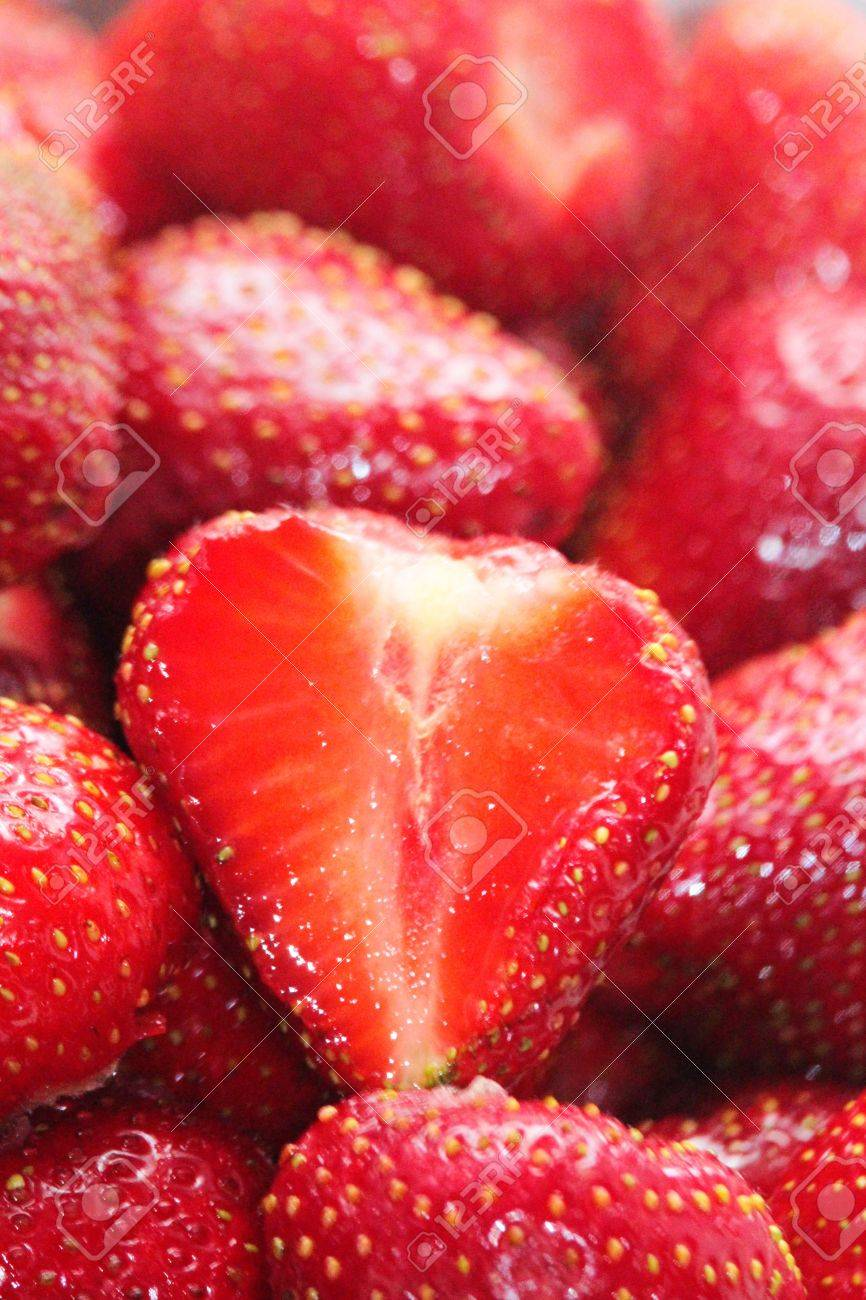 Macro of Strawberries - 60221403