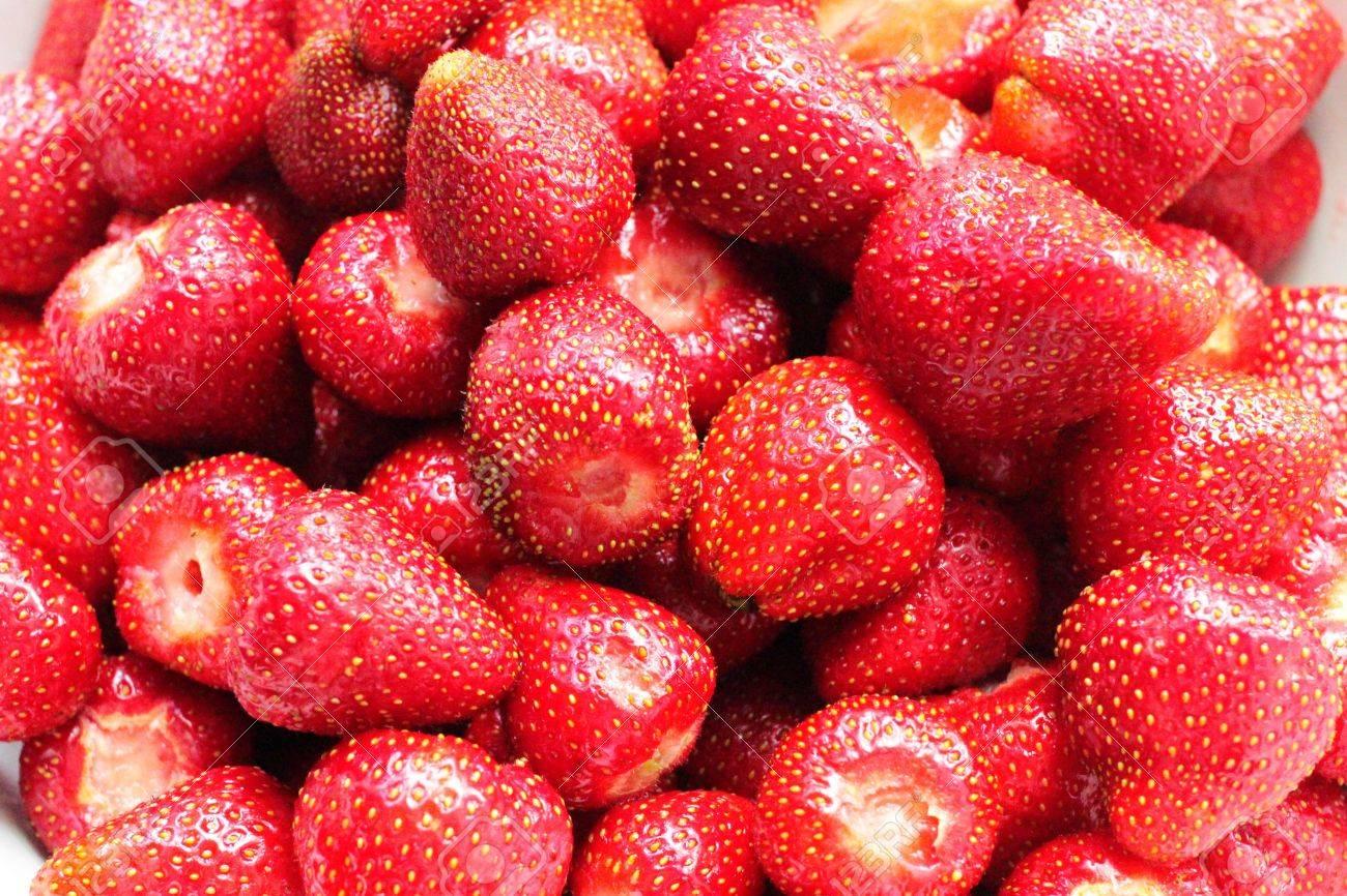 Macro of Strawberries - 60695437