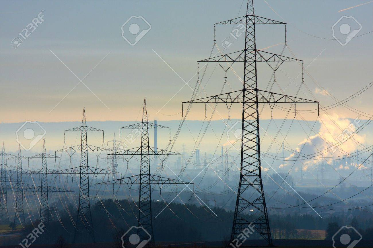 Power Lines in Germany Stock Photo - 12057973