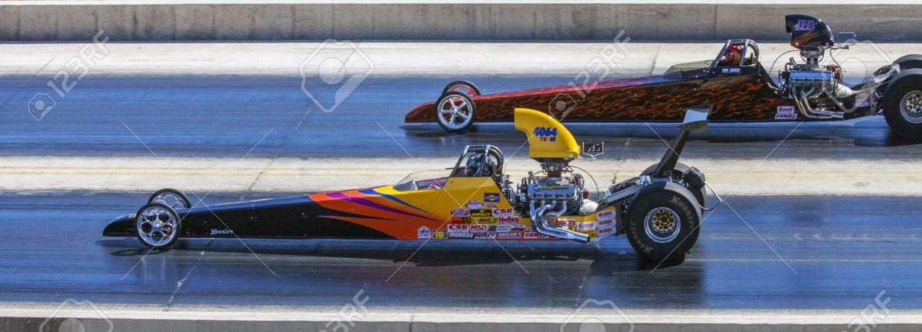 Drag Racing in Texas Stock Photo - 18864249