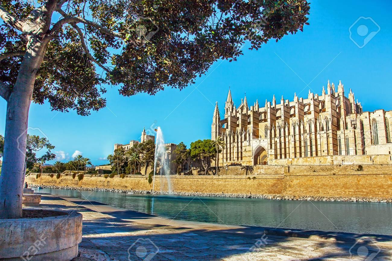 Palma de Mallorca Mallorca Spain 12.22.2018 at the Cathedral La Seu - 116296168