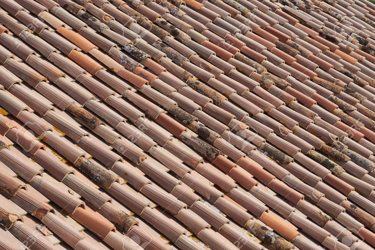 Housetop Roofing Tiles Stock Photo   82987204
