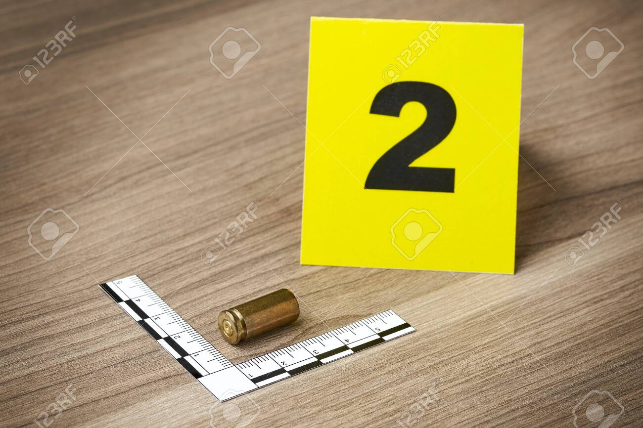 Crime Scene Investigation Bullet As A Piece Of Evidence Placed Stock Photo Picture And Royalty Free Image Image 129701670