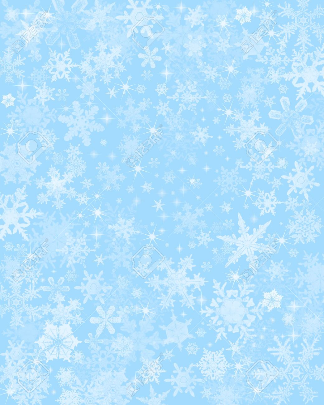 Light blue background - Snow Flakes On A Light Blue Background Stock Photo 10358701