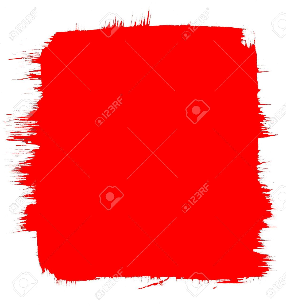A red background with a brush-stroke border. Stock Photo - 10393373
