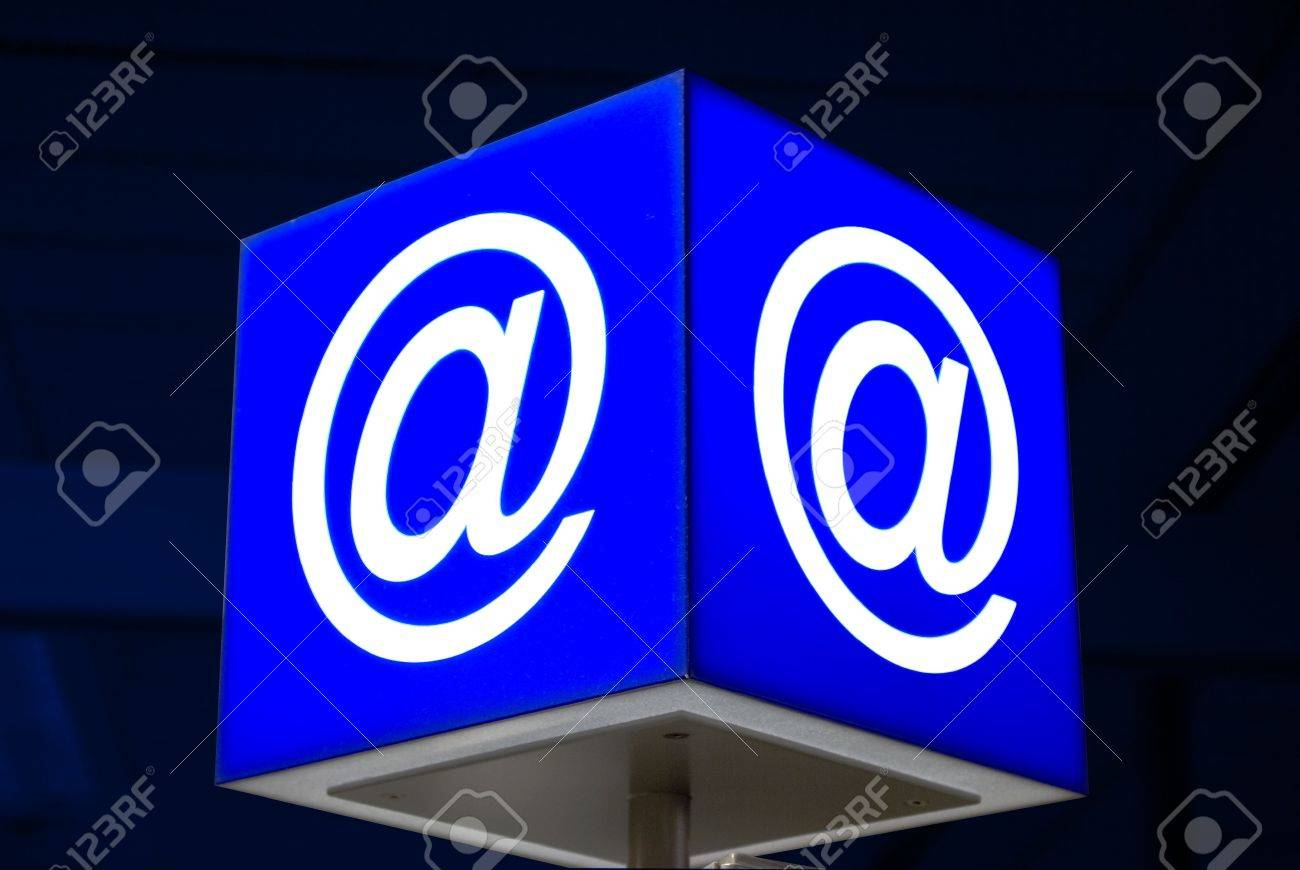 At sign e mail symbol in public internet point at airport stock at sign e mail symbol in public internet point at airport stock photo biocorpaavc