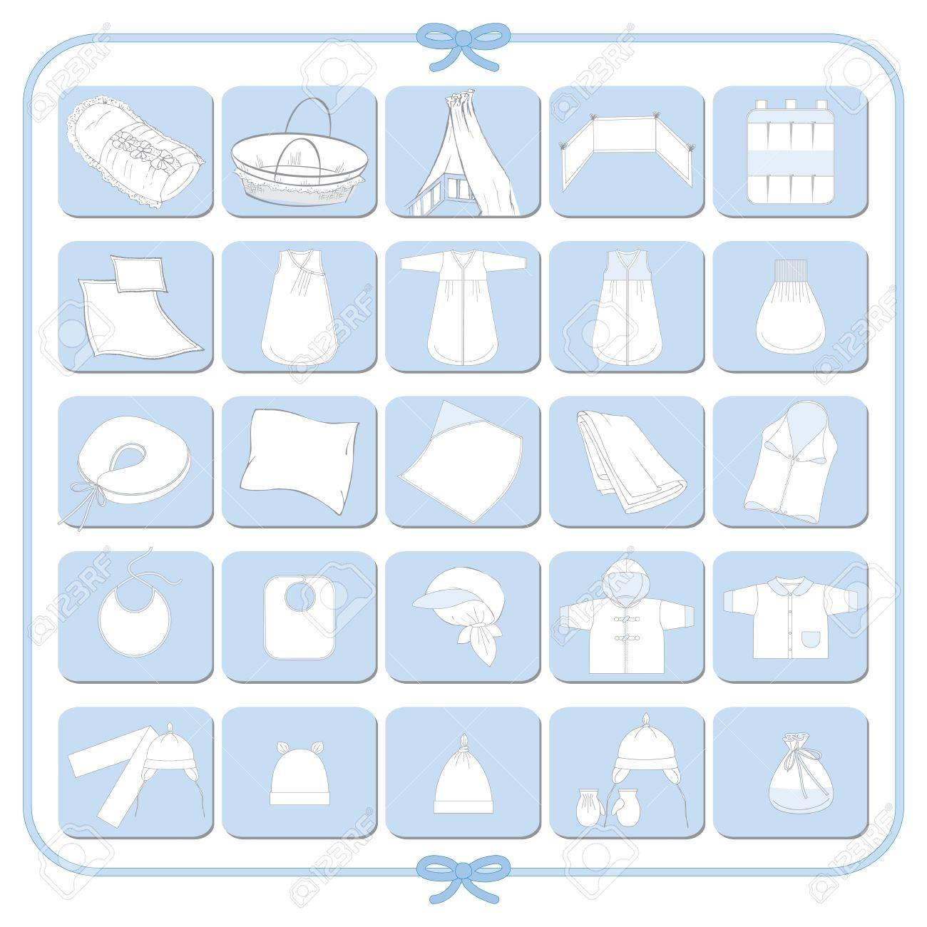 Pictograms of white babyboy dresses - 14410190