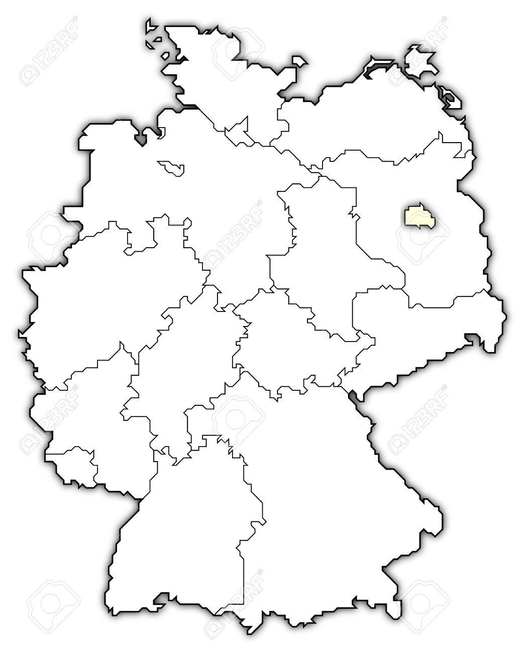 Germany Map Berlin Highlighted Photo Picture And Royalty – Germsny Map