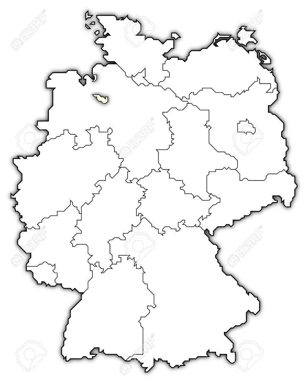 Germany Map Bremen Highlights Stock Photo Picture And Royalty - Germany map bremen