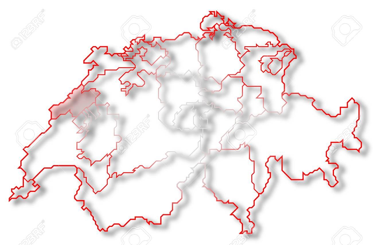 Cartina Politica Svizzera Cantoni.Immagini Stock Mappa Politica Della Svizzera Con I Cantoni Diversi Casi In Cui E Evidenziato Neuchatel Image 10818791