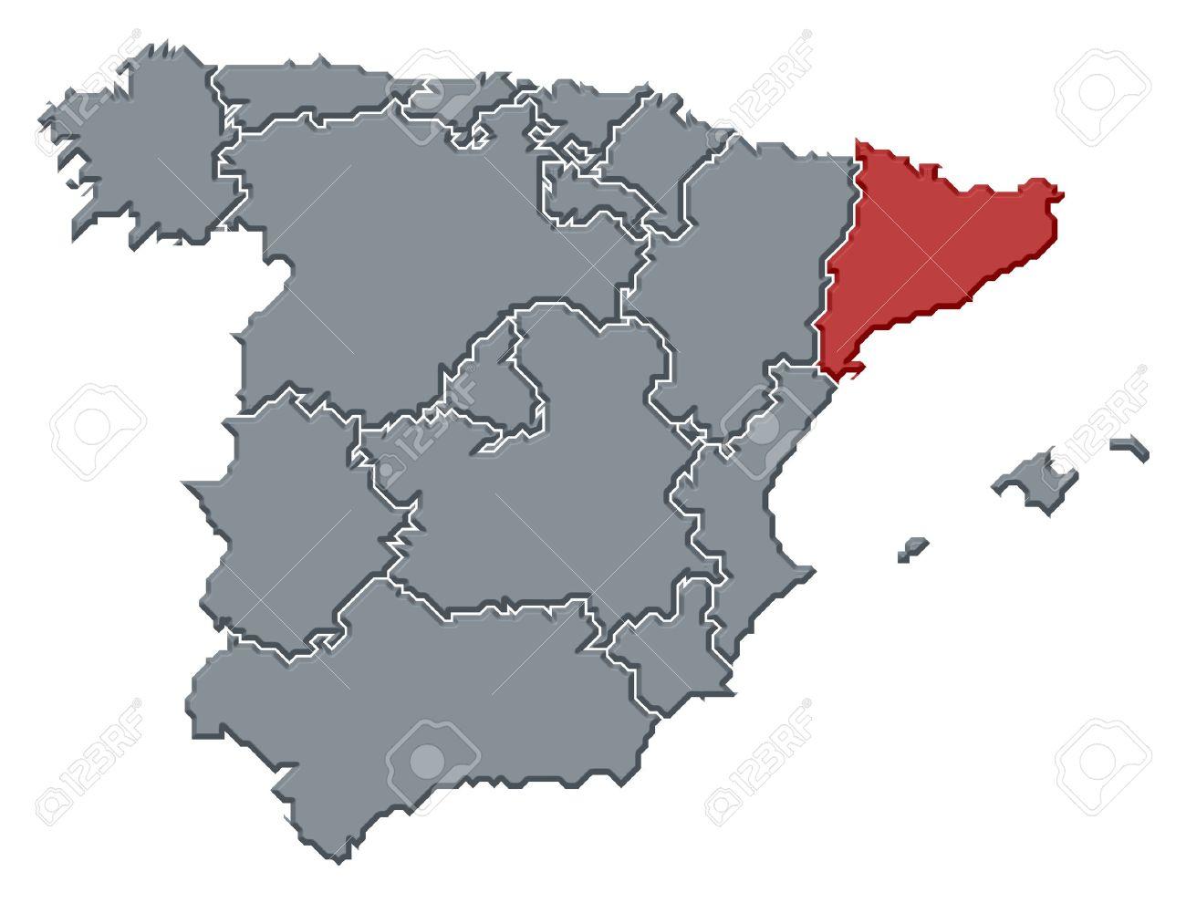 Resultado de imagen de cataluña españa mapa politico