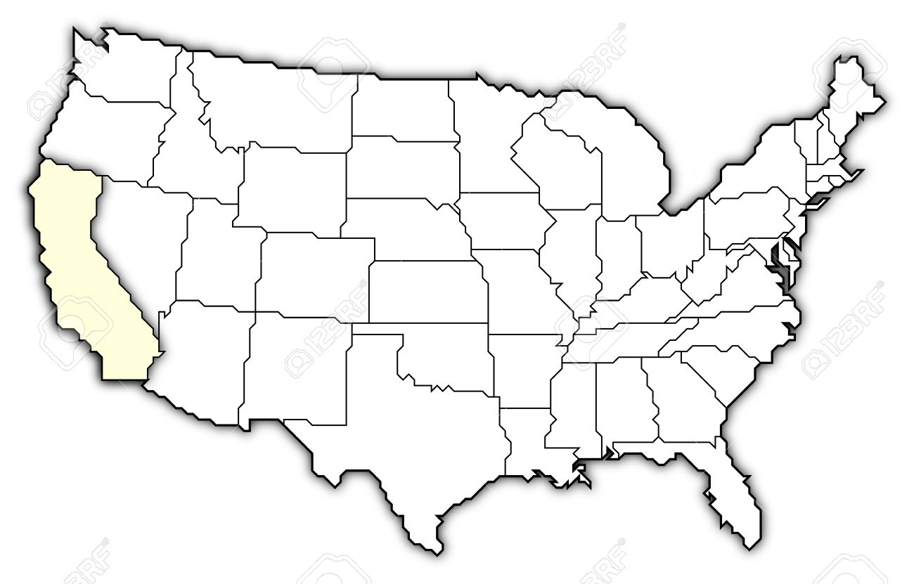 Map Of California Us.Political Map Of United States With The Several States Where