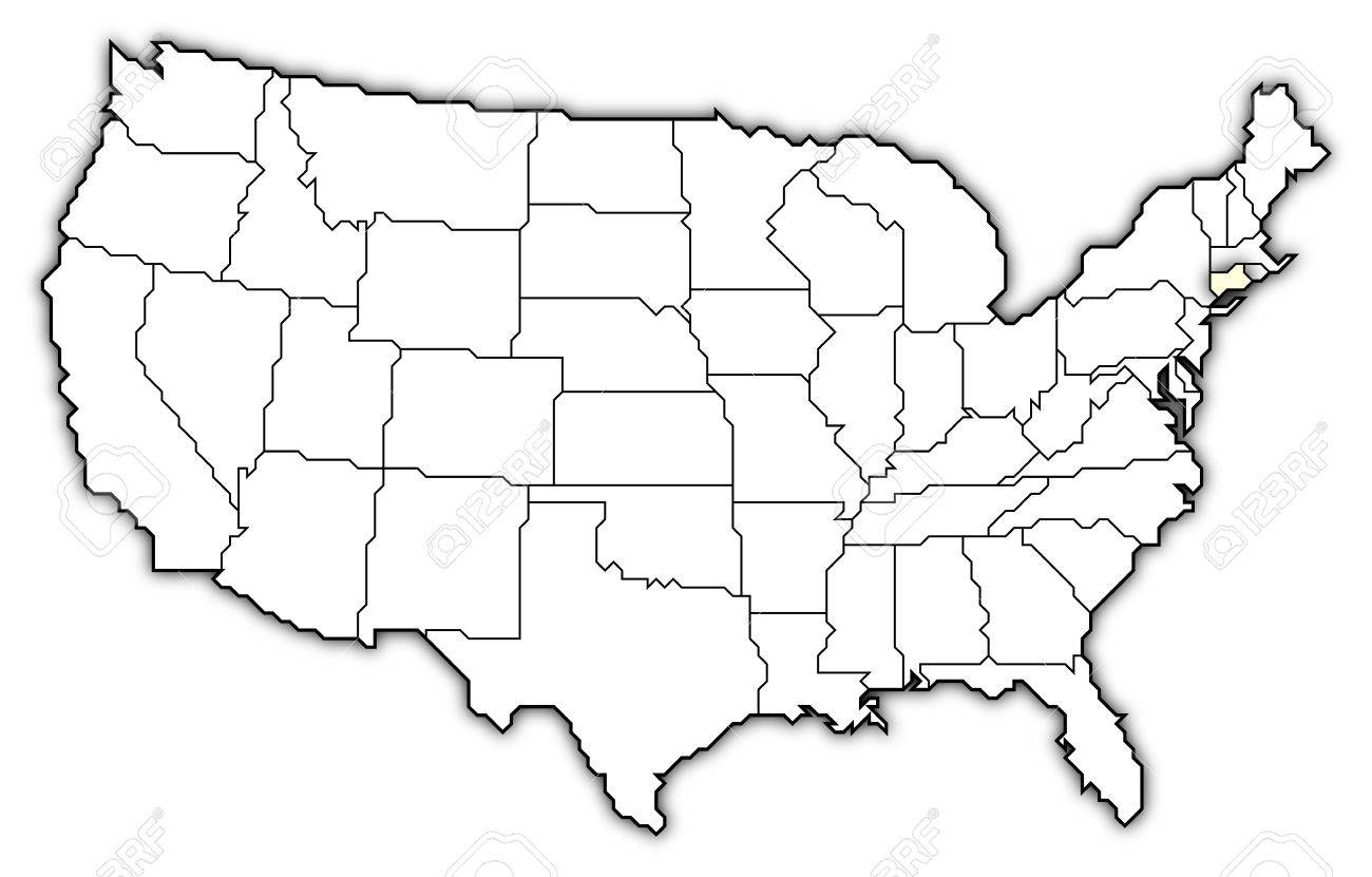 Political Map Of United States With The Several States Where - Staes on us map connecticut