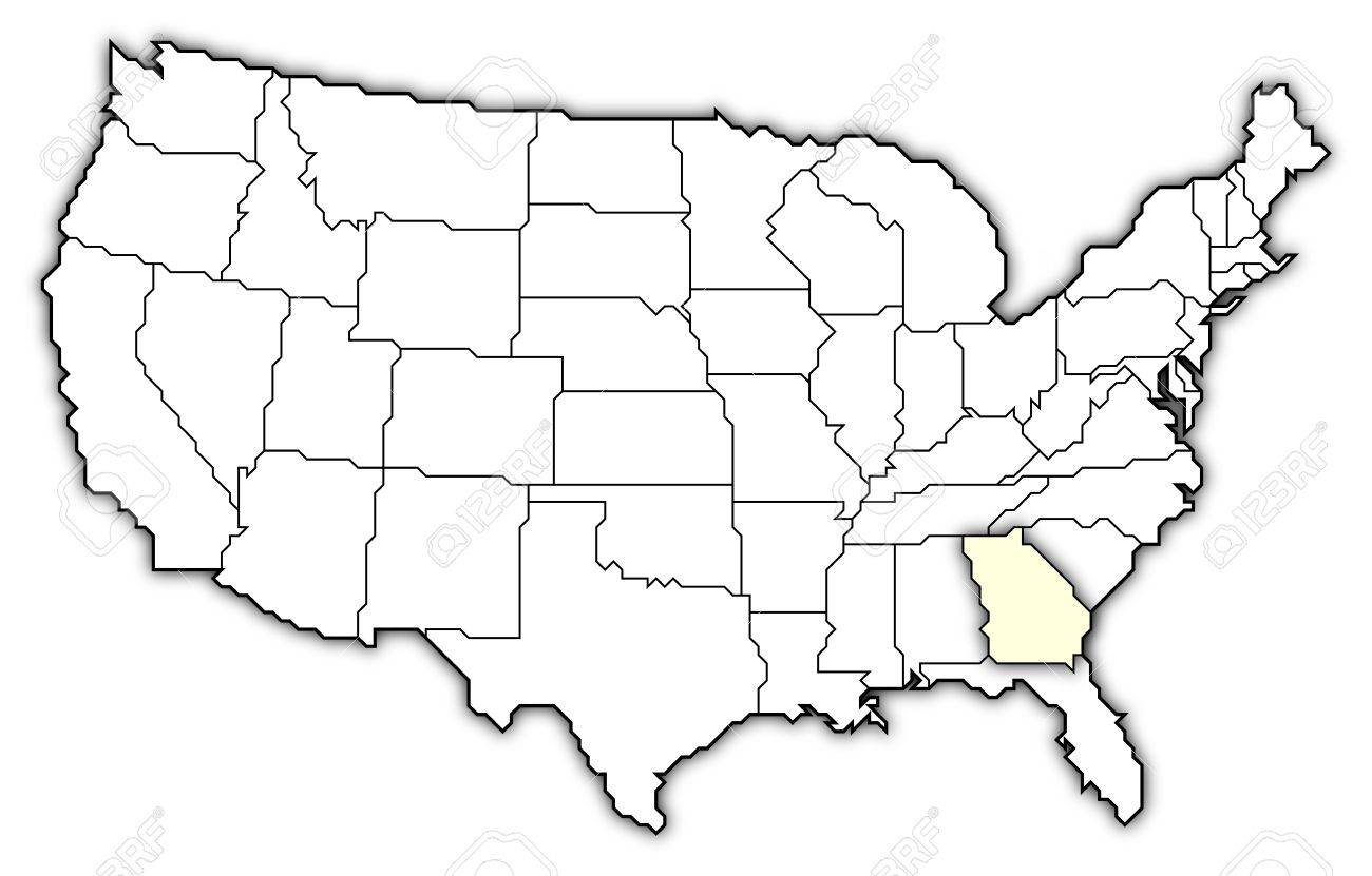 Political Map Of United States With The Several States Where - Georgia us map