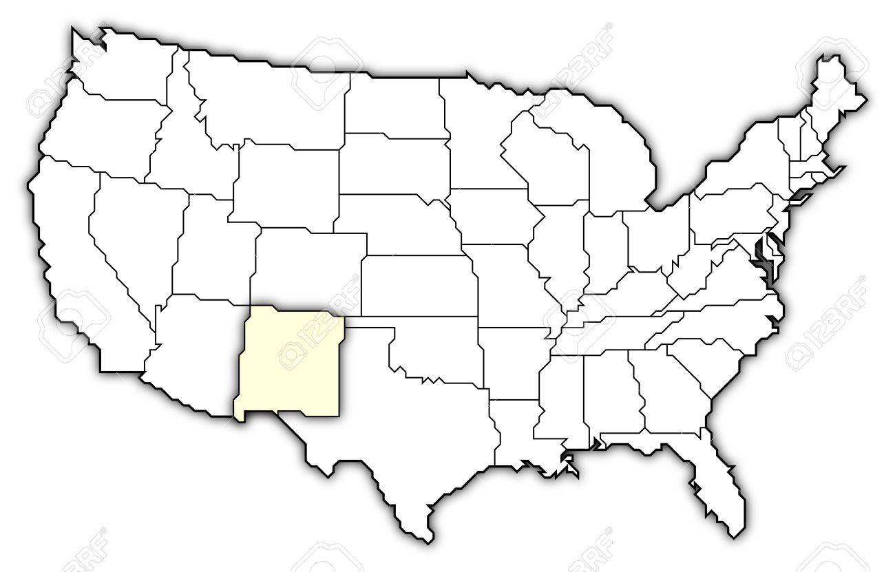 Political Map Of United States With The Several States Where - New mexico on us map