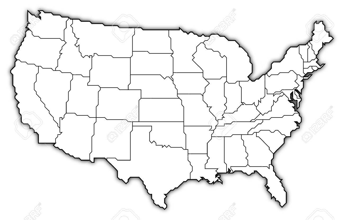 USA Map With State Abbreviations In Adobe Illustrator And USA Map - Us map states initials