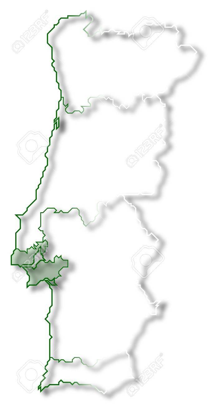 Cartina Politica Portogallo Con Regioni.Immagini Stock La Mappa Politica Del Portogallo Con Le Varie Regioni In Cui E Evidenziato Regione Lisboa Image 10818961