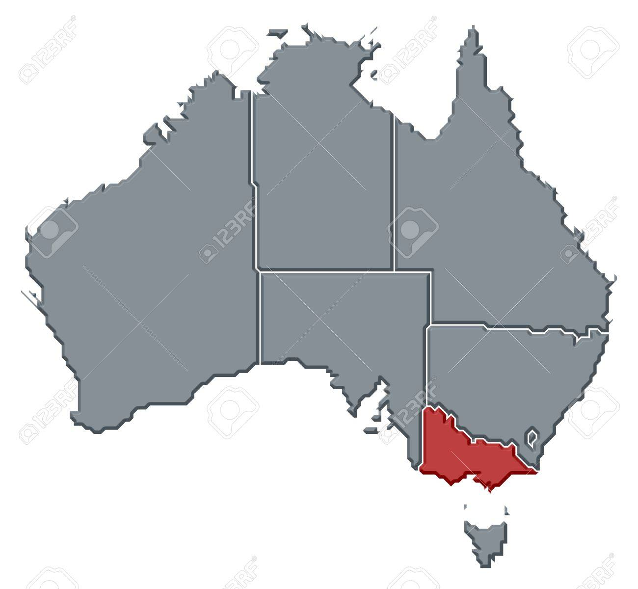 Political Map Of Australia With The Several States Where Victoria – Map Victoria Australia