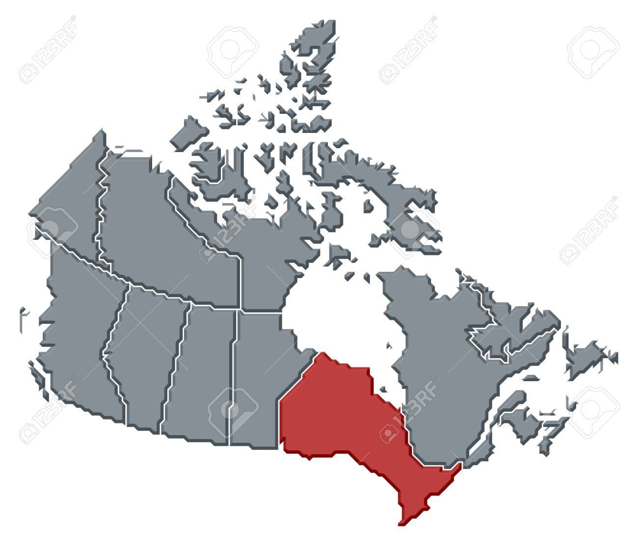 Political Map Of Canada With The Several Provinces Where Ontario - Political canada map
