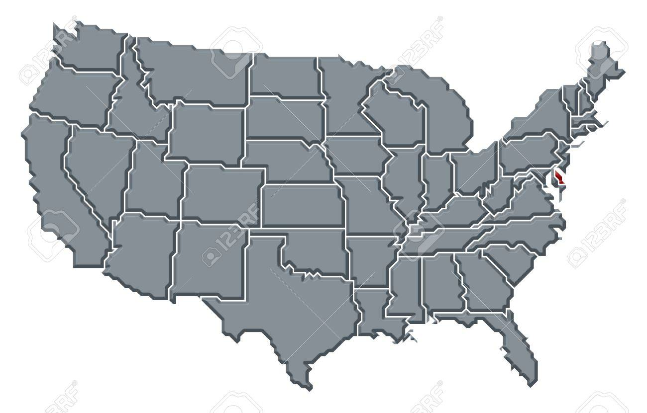 Political Map Of United States With The Several States Where ... on delaware history trail, delaware capital, delaware maryland, delaware major cities, delaware map cities, delaware major geographical features, delaware us map, delaware 13 colony map, delaware usa,