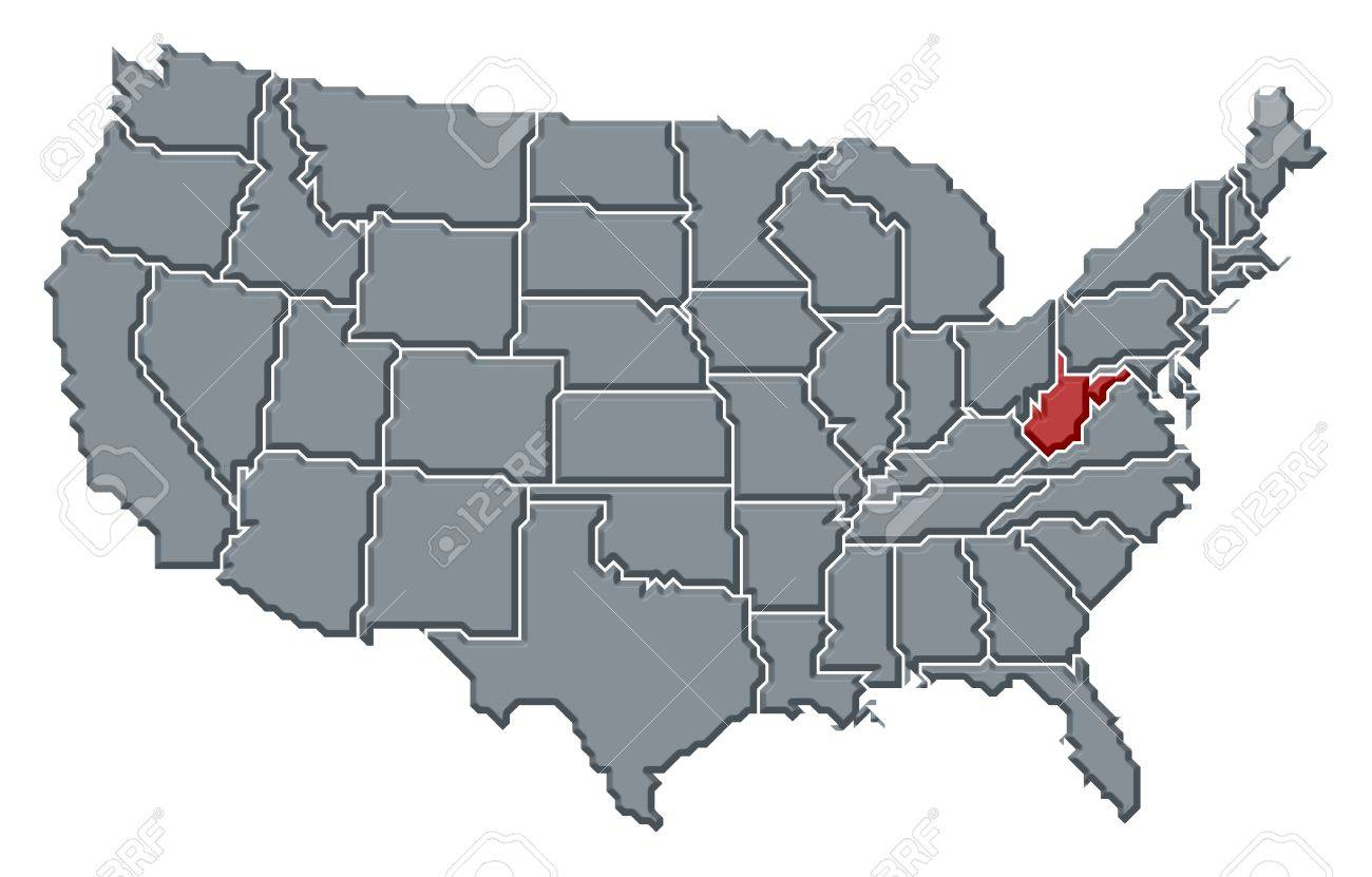Roanoke Virginia Locate Map Stock Topographical Map Of Us - West virginia us map