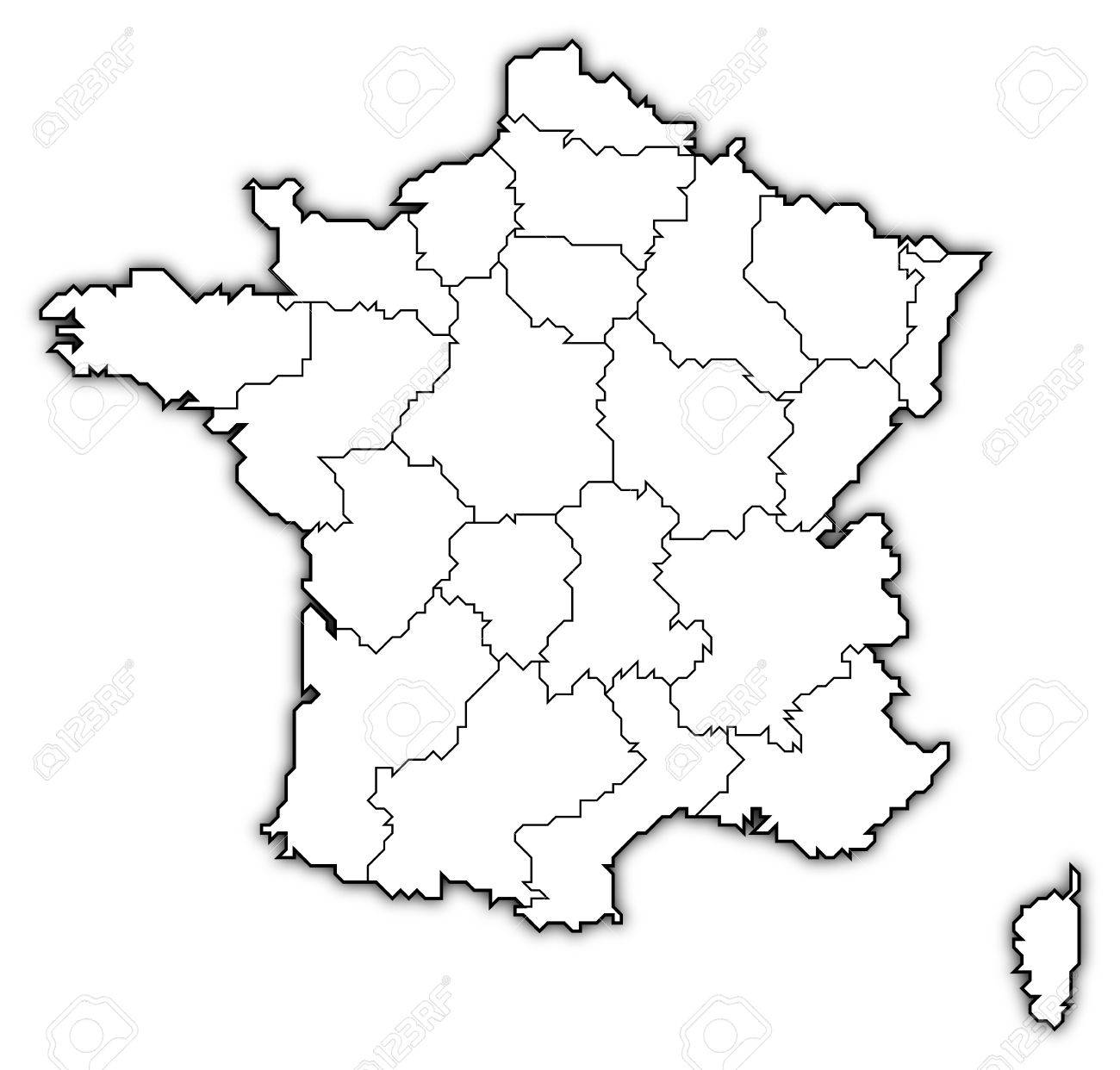 Map Of France Political.Political Map Of France With The Several Regions