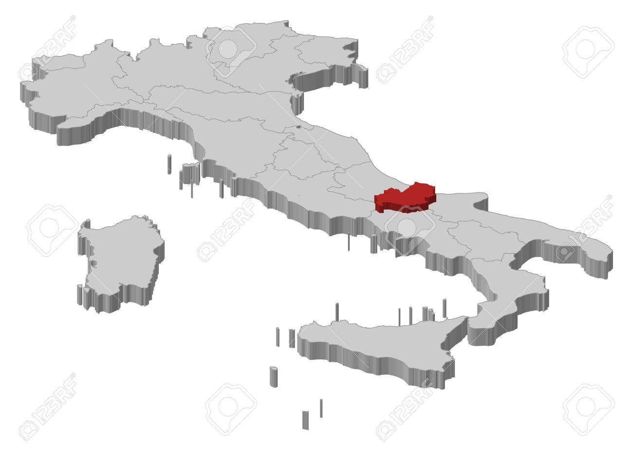 Cartina Molise Politica.Vettoriale Mappa Politica D Italia Con Varie Regioni In Cui E Evidenziato Il Molise Image 11198061
