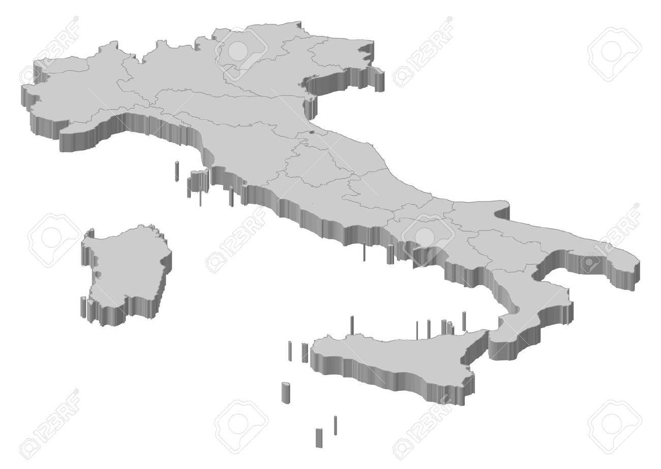 Political map of Italy with the several regions. Stock Vector - 11198052