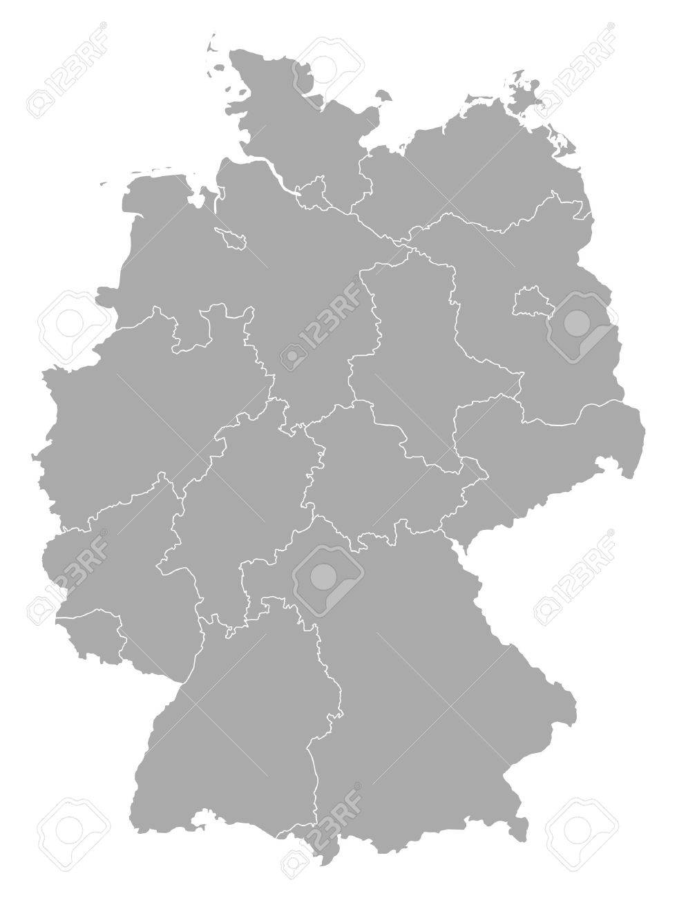 Political map of Germany with the several states. - 11241438