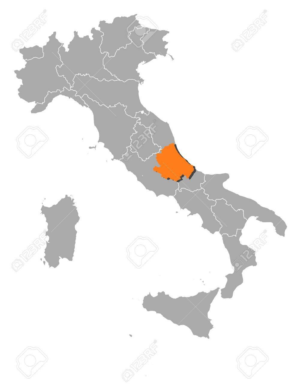 Cartina Politica Italia Abruzzo.Vettoriale Mappa Politica D Italia Con Varie Regioni In Cui E Evidenziato Abruzzo Image 11256076