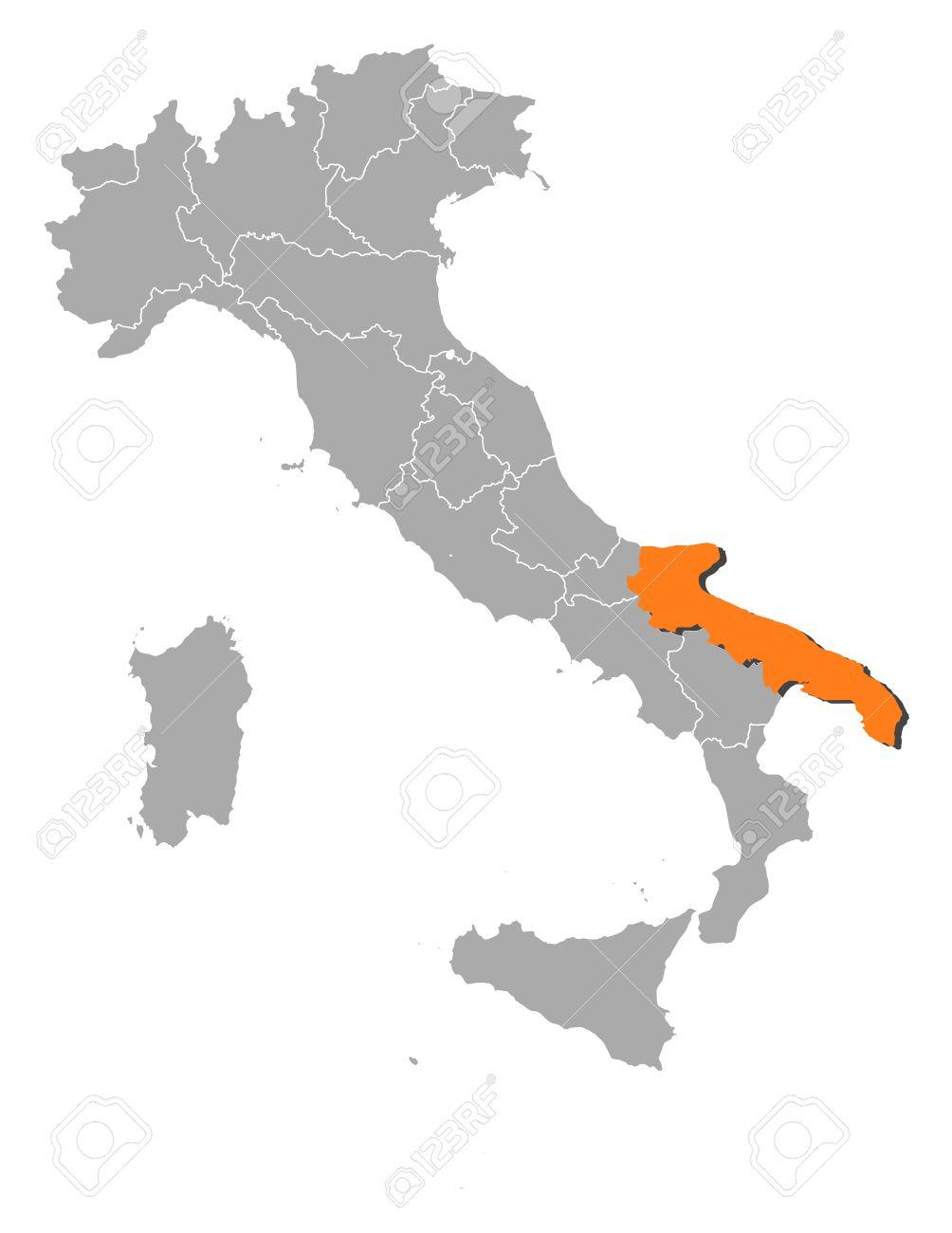 Cartina Italia Puglia.Vettoriale Mappa Politica D Italia Con Varie Regioni In Cui E Evidenziato Puglia Image 11256078