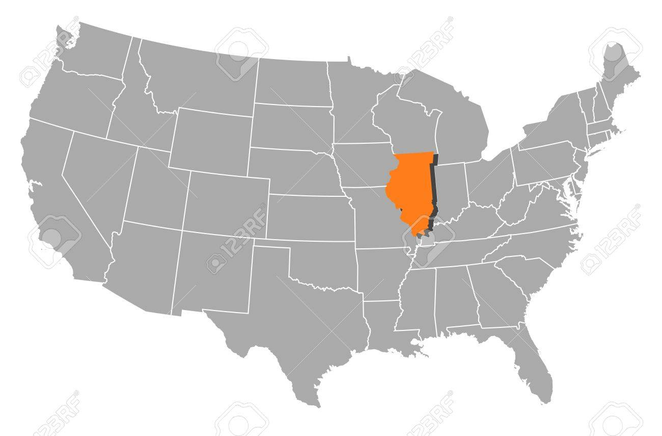 Illinois Zip Codes Map List Counties And Cities USA Blank Map - Us zip codes by state list