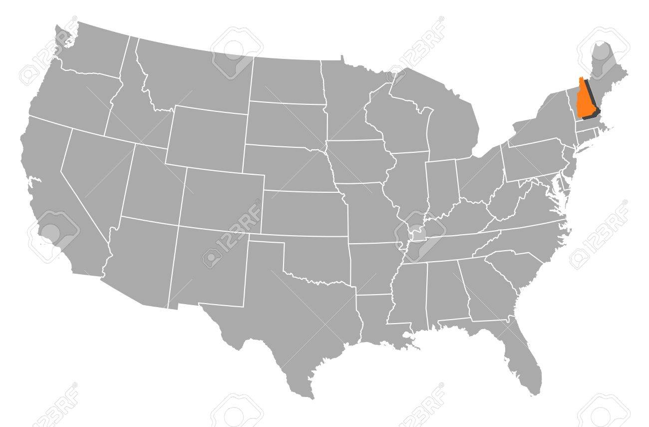 Political Map Of United States With The Several States Where - New hampshire on us map