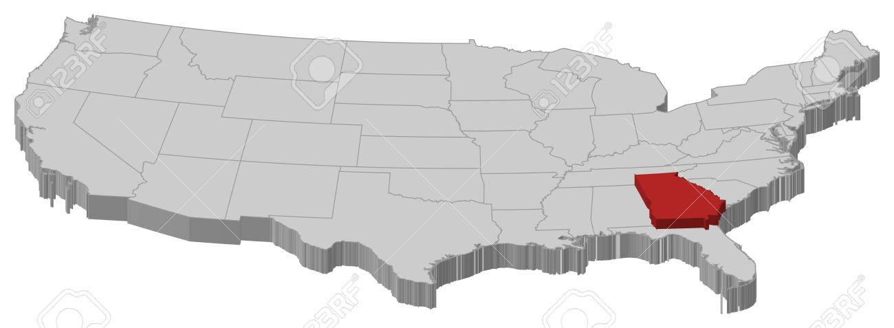 Political Map Of United States With The Several States Where – Map Usa Georgia