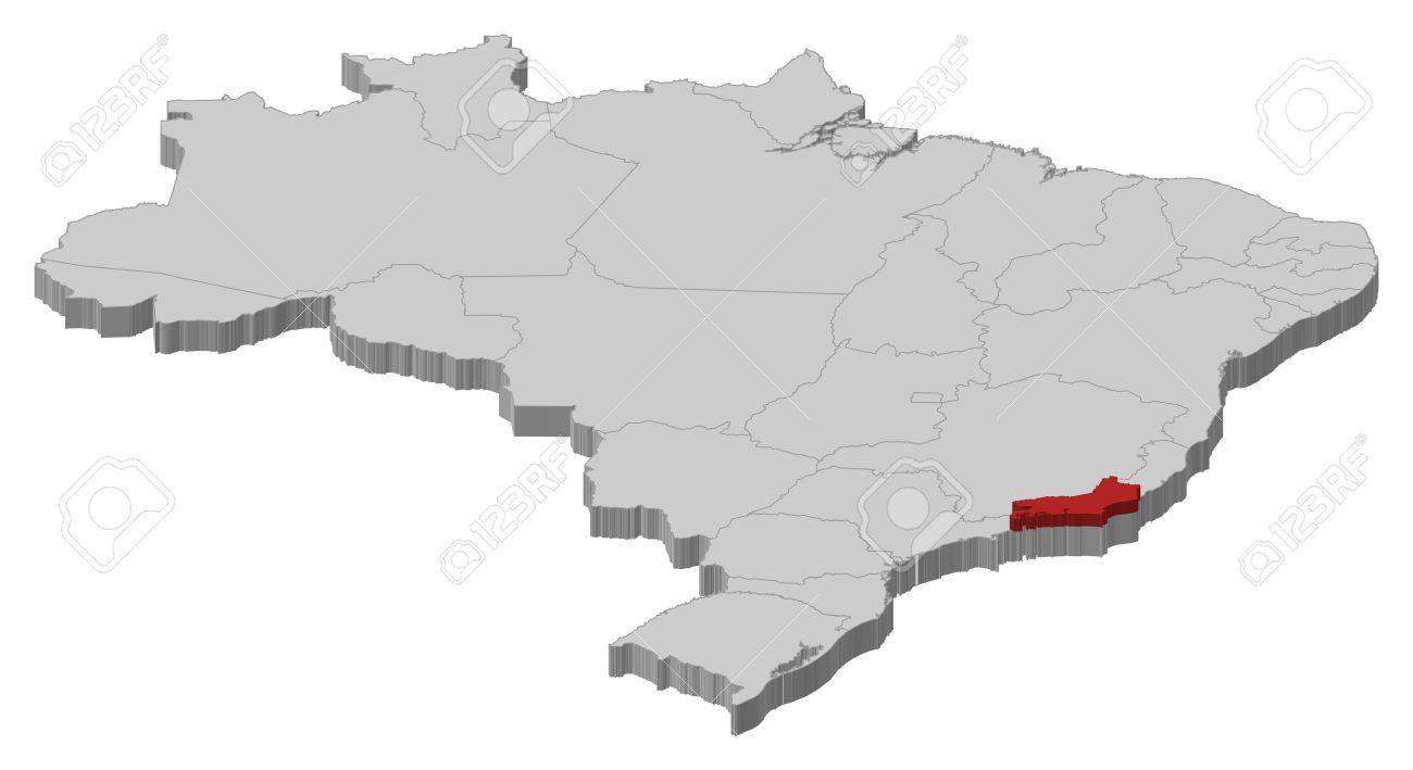 Political Map Of Brazil With The Several States Where Rio De - Brazil political map