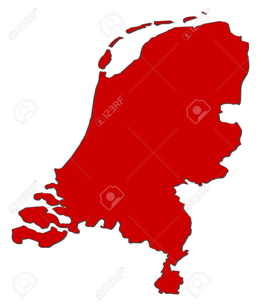 political map of netherlands with the several states royalty free