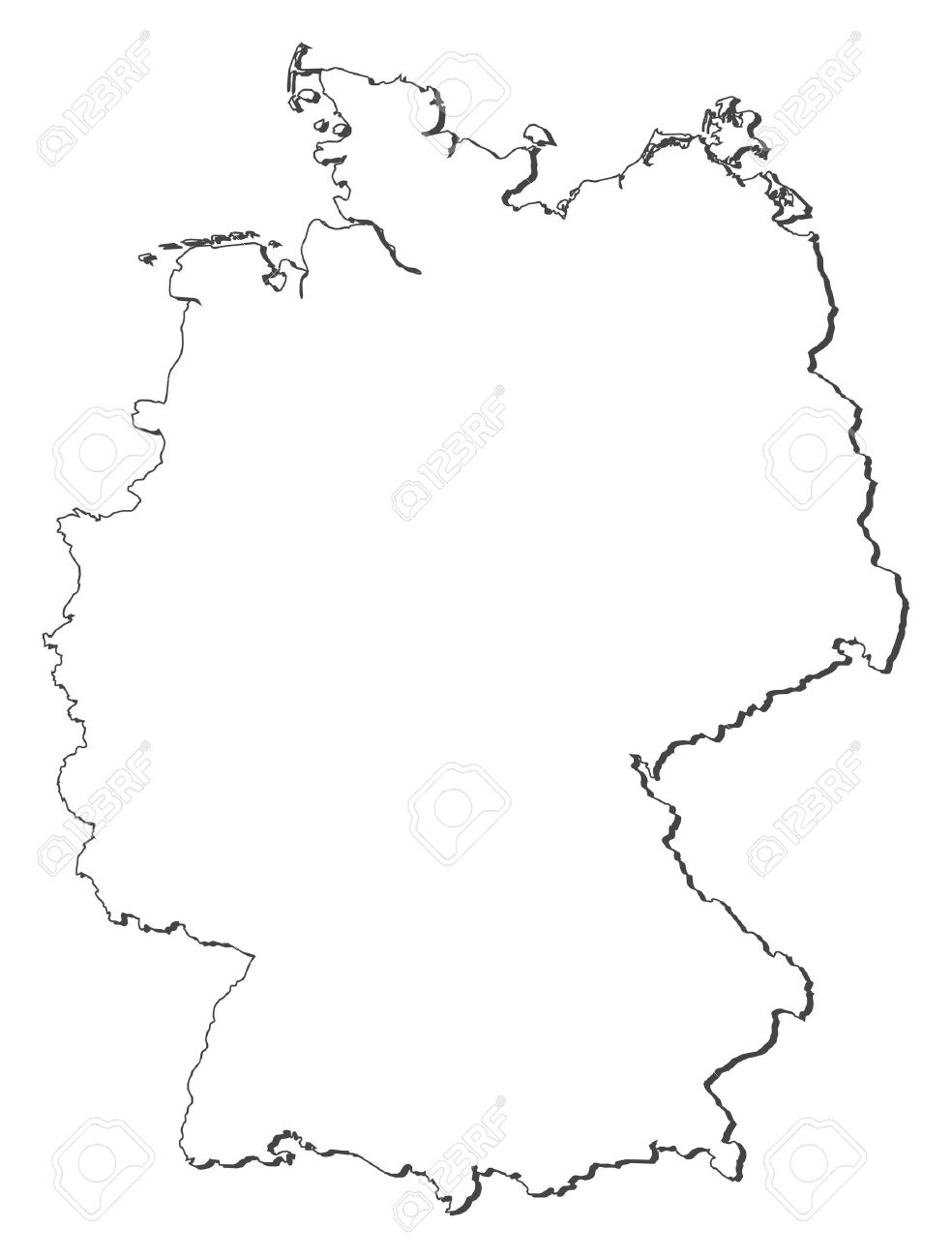 Political map of Germany with the several states. - 11346267