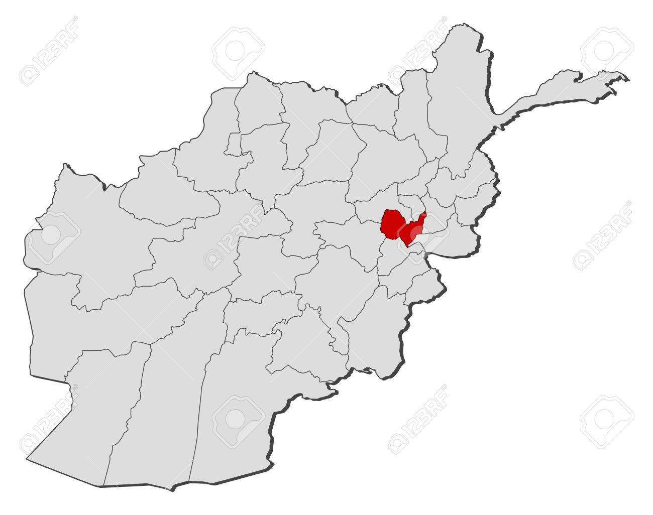 Political Map Of Afghanistan With The Several Provinces Where - Political map of afghanistan