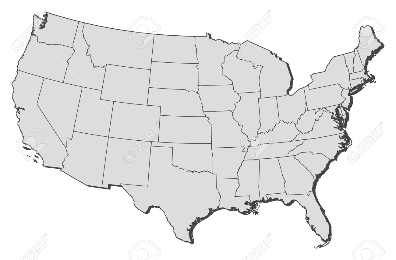 Political Map Of United States With The Several States Where - Washington dc map of america