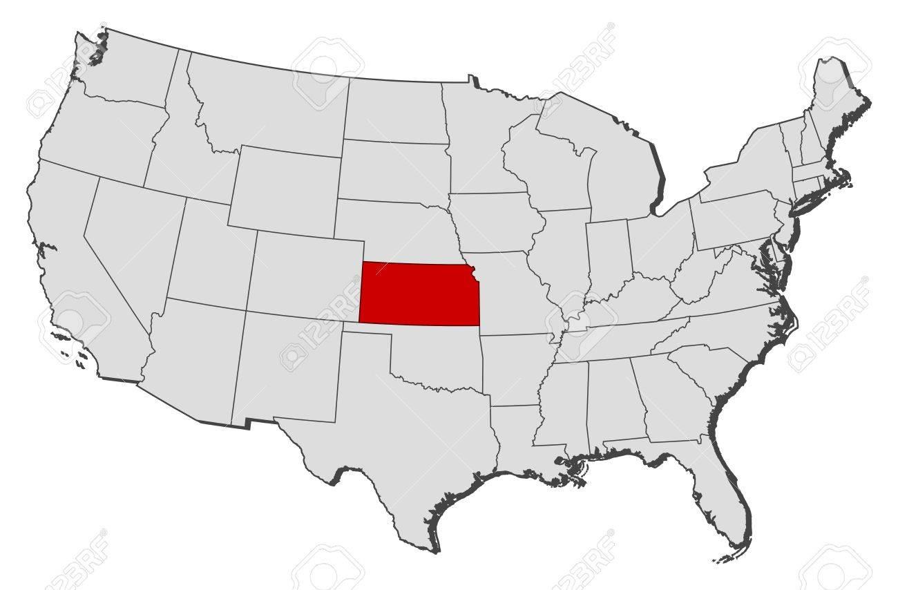 United States Map Kansas