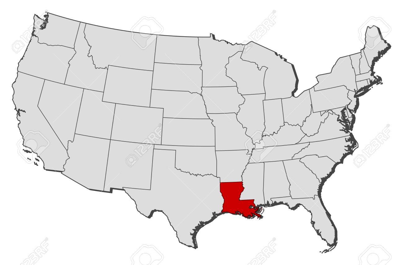 Us Map Louisiana MAP - Us map of louisiana