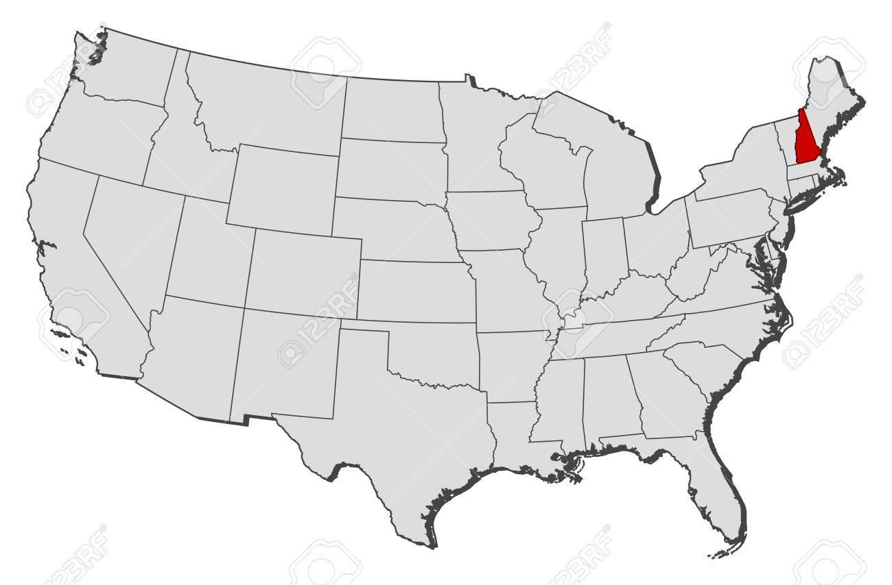 Map Of New Hampshire In The USA Map Of New Hampshire New - New hampshire on us map