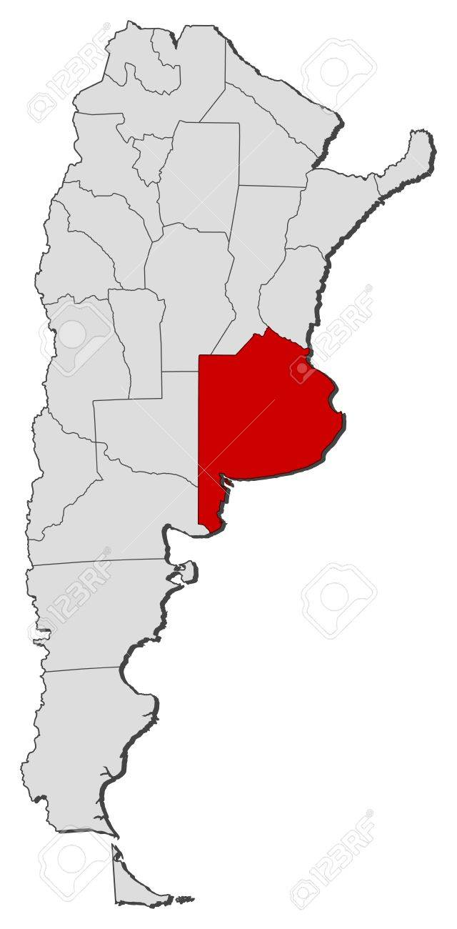 Political Map Of Argentina With The Several Provinces Where Buenos - Argentina map buenos aires