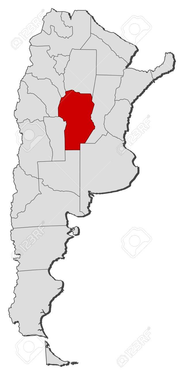 Political Map Of Argentina With The Several Provinces Where - Argentina map provinces