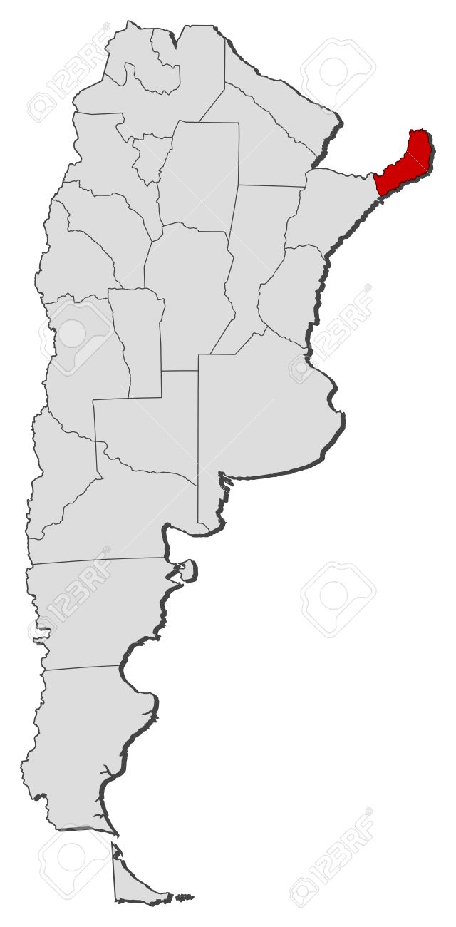 Political Map Of Argentina With The Several Provinces Where - Argentina misiones map