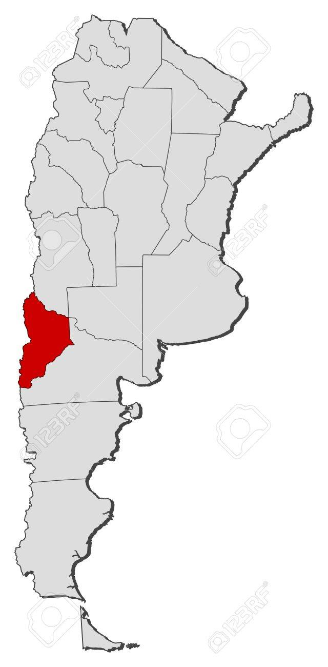 Political Map Of Argentina With The Several Provinces Where Neuqu N