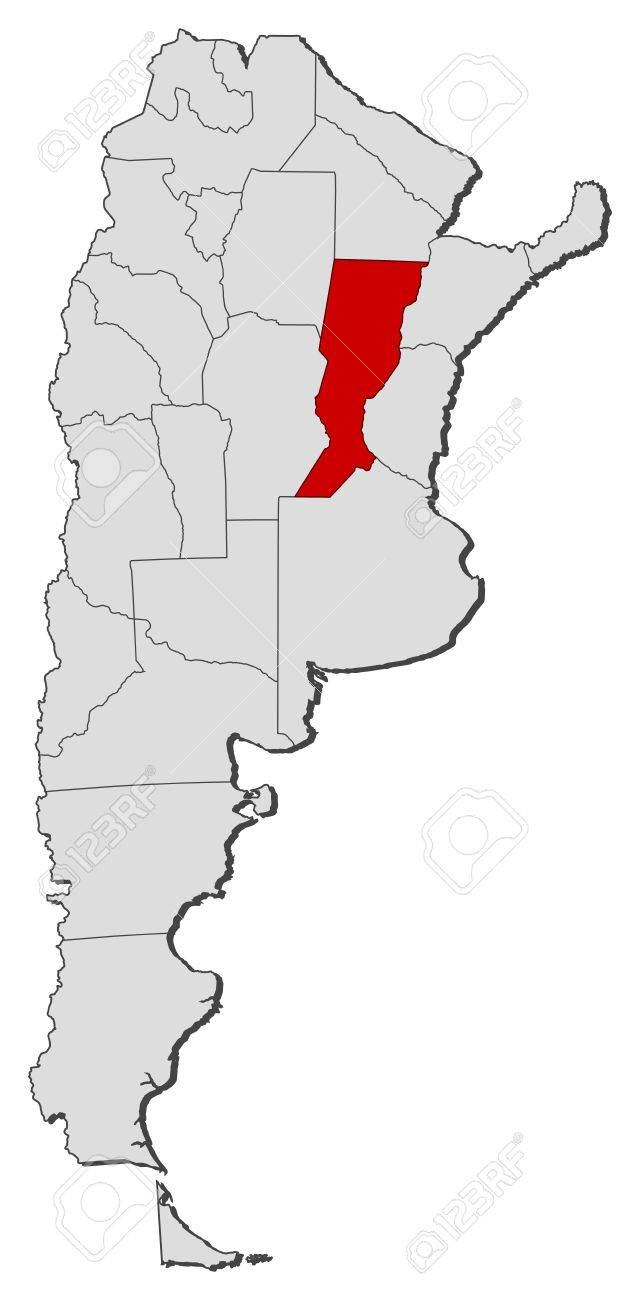 Political Map Of Argentina With The Several Provinces Where Santa - Argentina map provinces