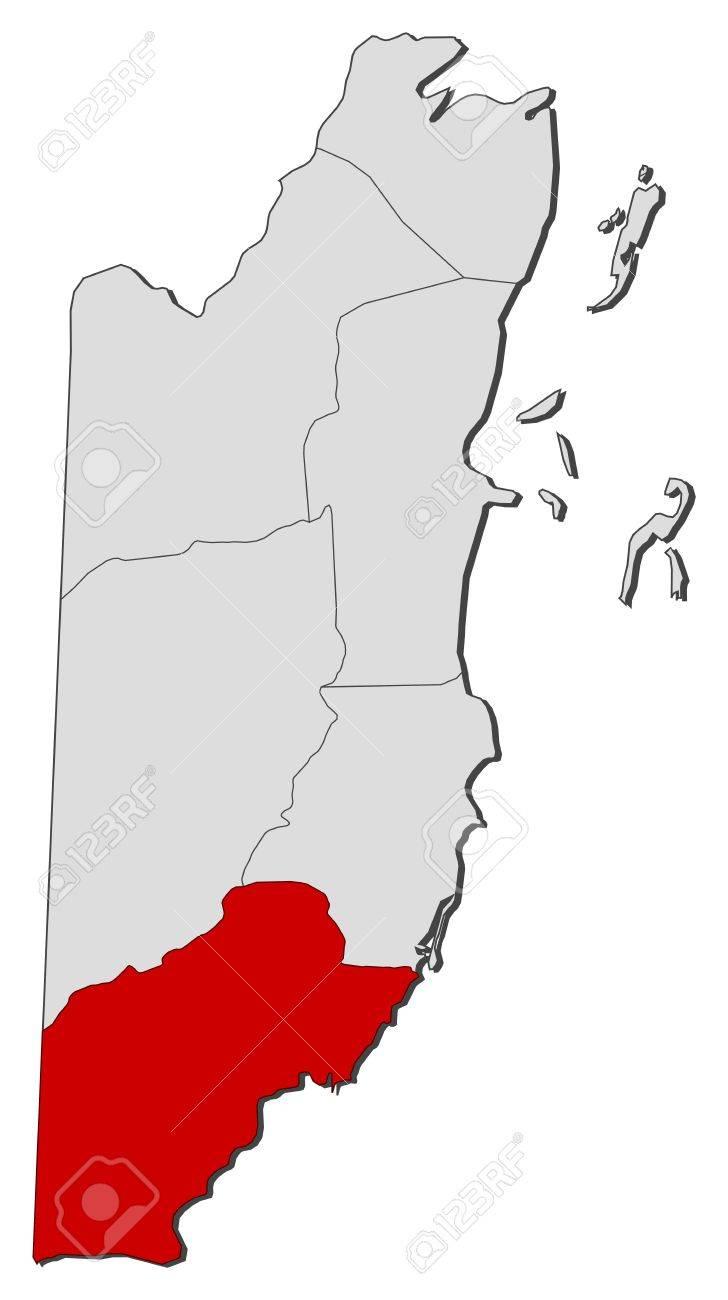 Mapa Politico De Toledo.Mapa Politico De Belice Con Las Provincias De Toledo Donde Varios Se Destacaron Ilustraciones Vectoriales Clip Art Vectorizado Libre De Derechos Image 11346817
